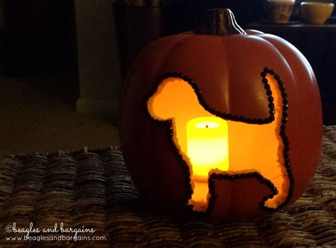 puppy pumpkin carving diy dog silhouette carvable pumpkins