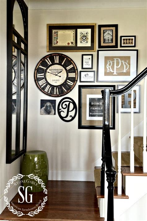 How To Decorating Clocks by Adding A Clock To A Wall Gallery And A Giveaway Stonegable