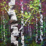 Painting Birch Trees Art