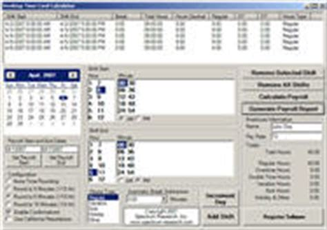 time clock software spectrum research