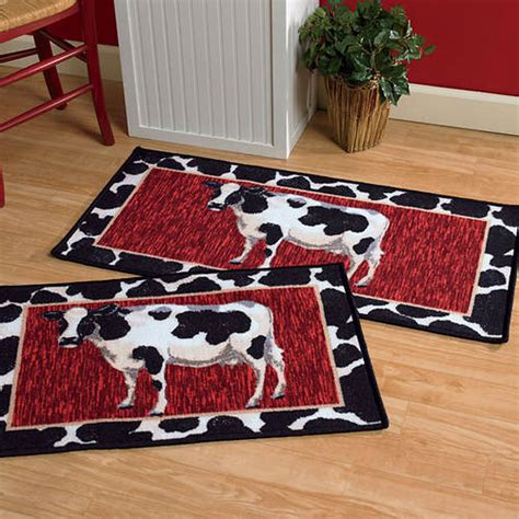 cow kitchen rug 2 pc kitchen rug set cows figi s gallery