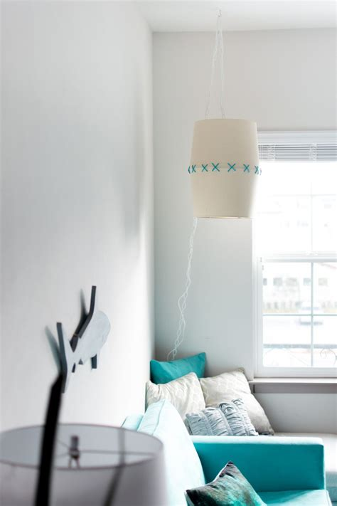 diy hanging lampshade light