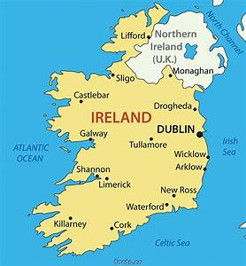 Map Of Ireland Geography City