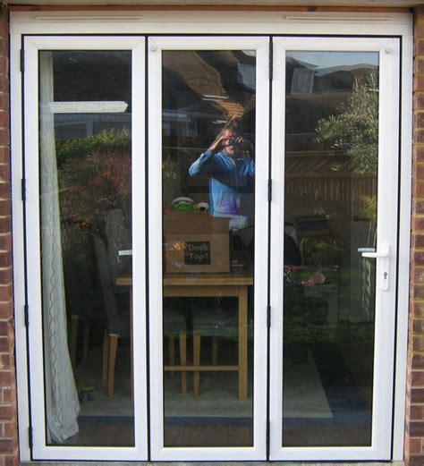 white upvc bi fold door folding doors