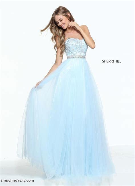 sherri hill light blue dress size 14 light blue sherri hill 51045 beaded prom dress