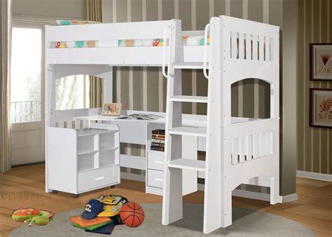 single bunk bed with desk miami single loft bunk