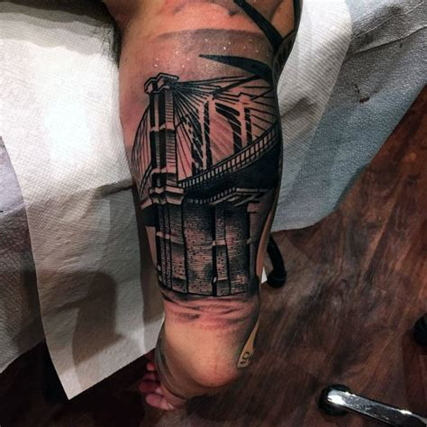 brooklyn bridge tattoos  men  york city design