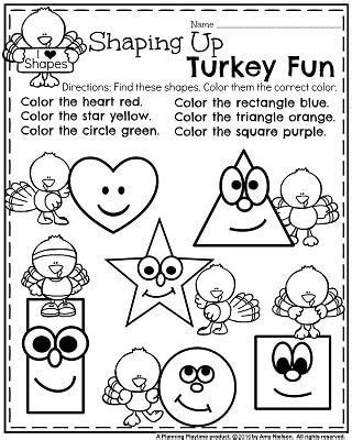 november preschool worksheets    images