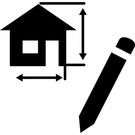 Drawing Architecture Project Of A House Icons  Free Download