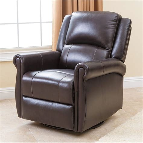 abbyson living swivel glider recliner chair in
