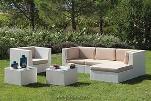 Salon De Jardin Osier : salon de jardin moderne en osier tress blanc ou noir new ~ Dallasstarsshop.com Idées de Décoration