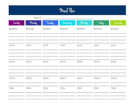 monthly meal planner template excel dinner calendar meal