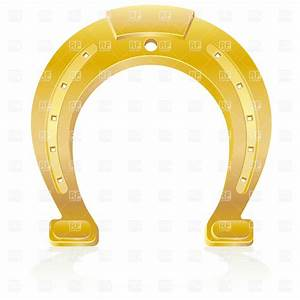 Gold horseshoe Royalty Free Vector Clip Art Image #19425 ...