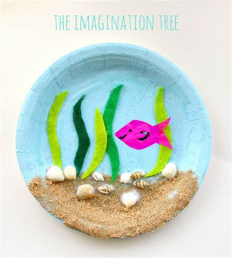 the sea paper plate craft the imagination tree 205 | Under the sea paper plate craft