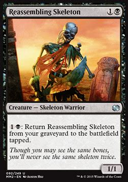 mtg reassembling skeleton deck puppeteer clique magic karte modern masters 2015
