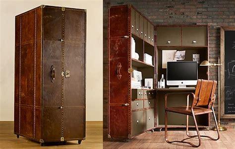 restoration hardware office desk vintage steamer trunk a gorgeous portable office
