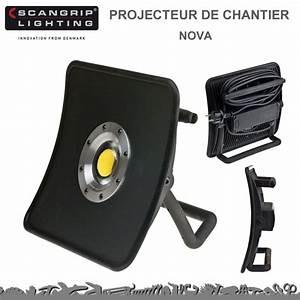 Projecteur De Chantier : projecteur de chantier nova 30 w 3300 lumens scangrip ~ Edinachiropracticcenter.com Idées de Décoration