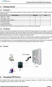 Airspan Networks Asmax698 Wimax Outdoor Cpe User Manual