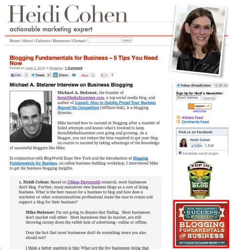 5 Ways Blogs Drive Sales [Examples] - Heidi Cohen
