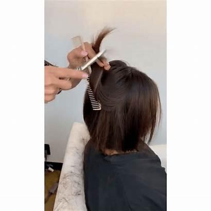 Bob Textured Behindthechair Bangs Haircuts Hair Straight