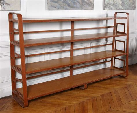 Leather Bookcase by Amazing Stitched Leather Bookcase By Jacques Adnet At 1stdibs