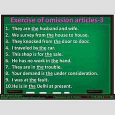 Articles(part5 Of 7) Omission Of Articles