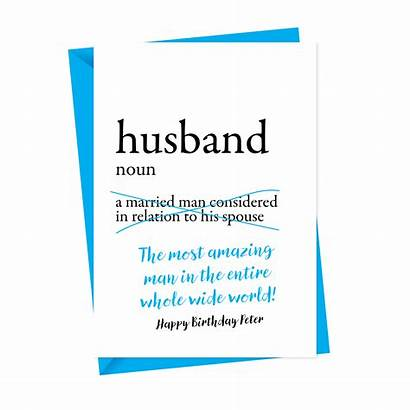 Husband Birthday Card Cards Dictionary Personalised