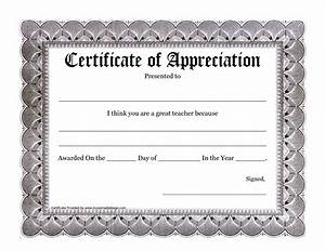 Teacher Certificate Of Appreciation Template | www.imgkid ...
