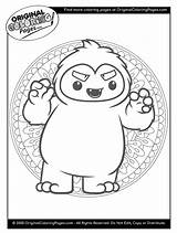 Coloring Pages Yeti Snow Below Any sketch template