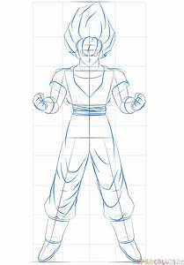 How To Draw Goku Super Saiyan Step By Step Drawing Tutorials