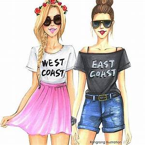 East Coast Zeichen : fashion illustration for best friends by fashion illustrator rongrong devoe fashion wall art ~ Yasmunasinghe.com Haus und Dekorationen
