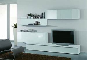 Wohnwand Weiß Günstig : moderne wohnwand wei hochglanz lackiert g nstig kaufen ~ Eleganceandgraceweddings.com Haus und Dekorationen