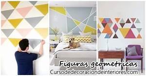 Decoración de paredes con figuras geometricas Decoracion