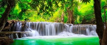 4k Nature Waterfall River Water Trees Wallpapers