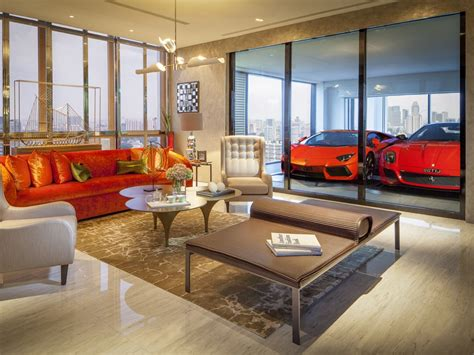 Singapore Luxury Apartment With Glass Garages Business