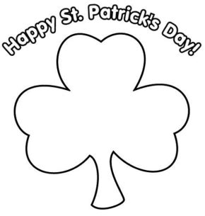 early play templates st patricks day shamrock templates