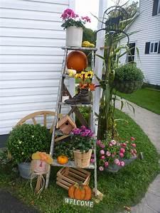 my, fall, ladder, decoration