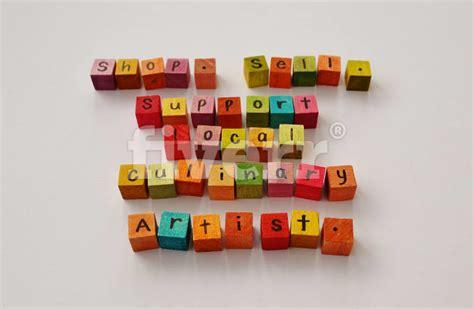 arrange letter blocks  form    short message