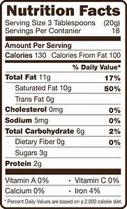 faq cacafe inc With coffee nutrition label