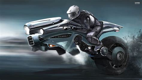 Futuristic Motorcyle : Flying Motorcycle Of The Future Background 1 Hd Wallpapers