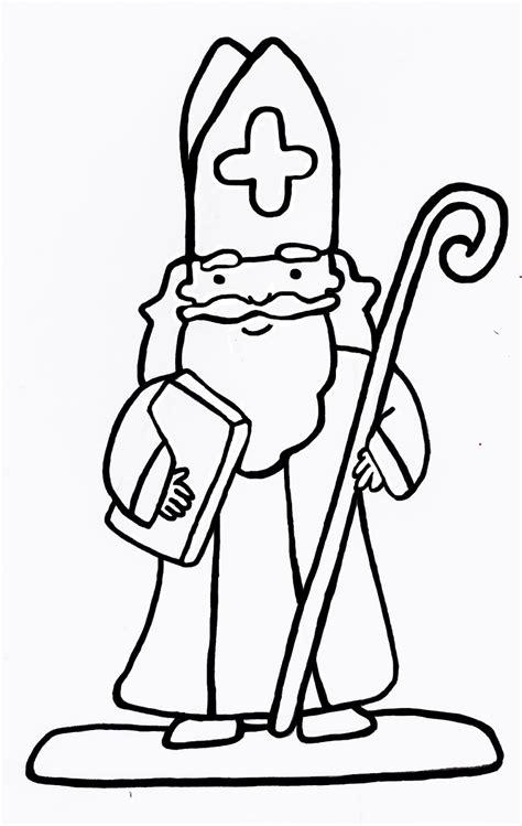 Kleurplaat Sinterklaas Makkelijk by Sinterklaas Kleurplaat Sinterklaas Eenvoudige Kleurplaten