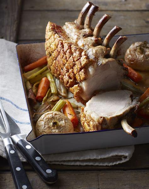 pork rib roast  oven roasted vegetables recipe