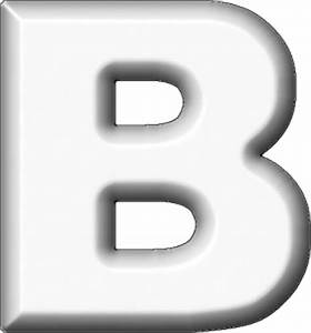 the gallery for gt white letter b With white letter b