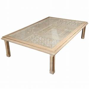 moroccan rectangular coffee table at 1stdibs With moroccan wooden coffee table