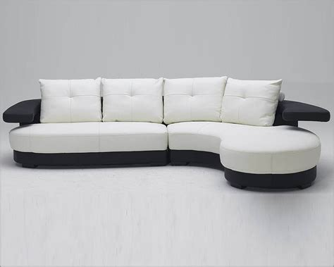 Sofa Black And White by Black And White Ultra Modern Leather Sectional Sofa