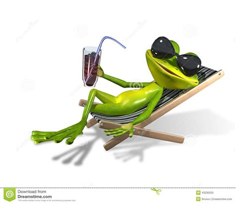sur chaise frog in a deckchair stock illustration image 43230250