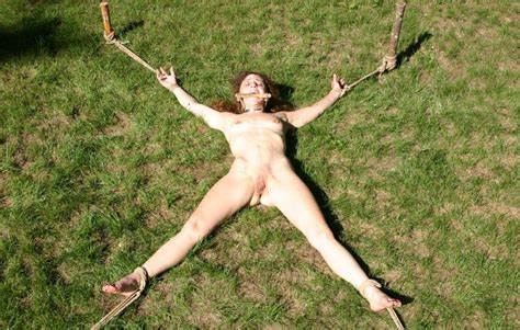 Slave Tied Outdoor The House