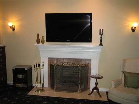 clinton ct tv install  fireplace  wall wire