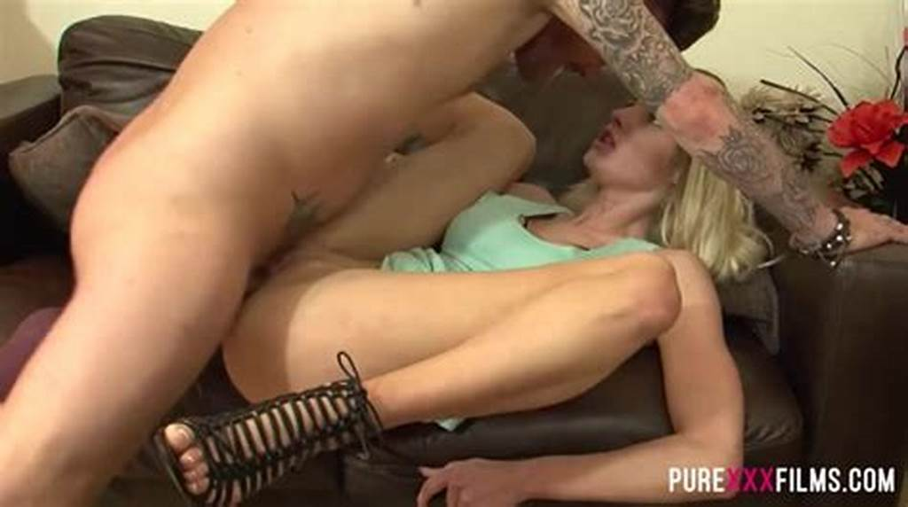 #Passionate #Blonde #Hottie #Pounded #On #Her #Couch