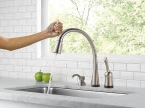 delta touch kitchen faucet touchless kitchen faucet comparison combined kitchen nickel finish